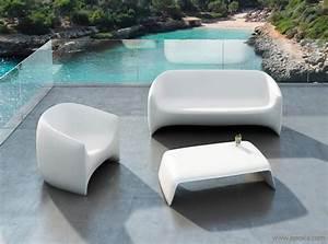 Fauteuil Plastique Jardin : mobilier pour jardin mobilier jardin aluminium trendsetter ~ Teatrodelosmanantiales.com Idées de Décoration