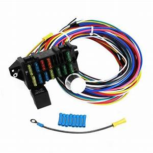 Universal 12 Circuit Wiring Harness Muscle Car Hot Rod