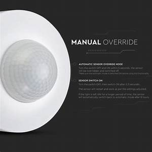 Infrared Motion Sensor With Manual Override Function