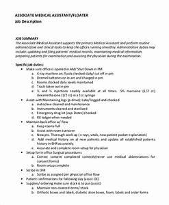 8 medical assistant job description samples sample for Clinical research associate duties