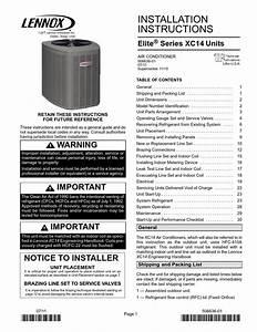 Attic  Lennox Air Conditioner Xc14  Installed 3 Nov 2013
