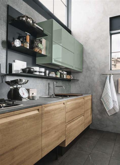 cucina green wood decor   kitchen cabinets