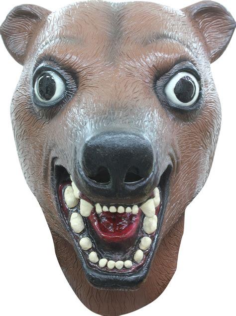 lustige maske baer fuer erwachsene braun guenstige