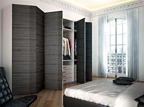 placard moderne chambre les portes de placard pliantes pour un rangement joli et