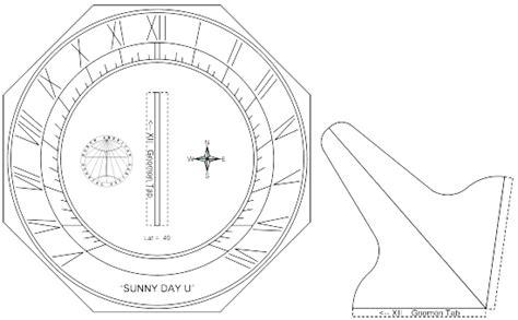 sundial template the sundial primer day u quot easy make quot sundials