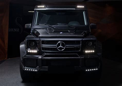 Genuine spare parts & accessories. Carbon Fiber Front Add-on Lip Spoiler for G-class W463 - GwagenParts.com | Mercedes G-class Parts