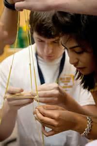 Marshmallow Spaghetti Tape String Challenge