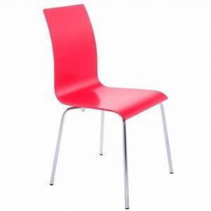 Chaise de cuisine rouge pas cher for Deco cuisine avec chaise de salon pas cher
