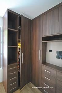 dressing d angle sur mesure contemporain armoire et With meuble a chaussure avec miroir 13 placard sur mesure paris amenagement de placards