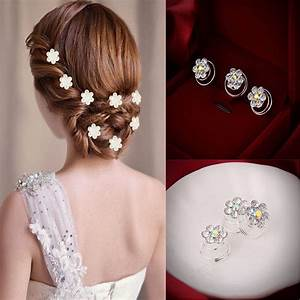 12 Pcs Wedding Prom Crystal Rhinestone Hair Pins Hairgrips