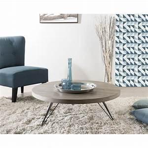 Pied De Table 90 Cm : table basse ronde 90 x 90 cm pieds scandi meubles macabane meubles et objets de d coration ~ Teatrodelosmanantiales.com Idées de Décoration