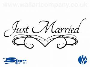 Just Married Vinyl - Wall Art Company