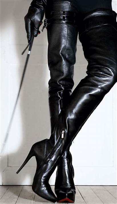 Boots Whip Leather Gloves Waiting Inch Mistress