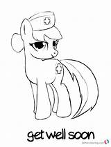 Soon Well Coloring Printable Pony Doctor Pages Bettercoloring sketch template
