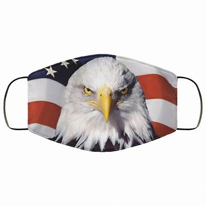Mask Flag Face American Eagle Washable Reusable