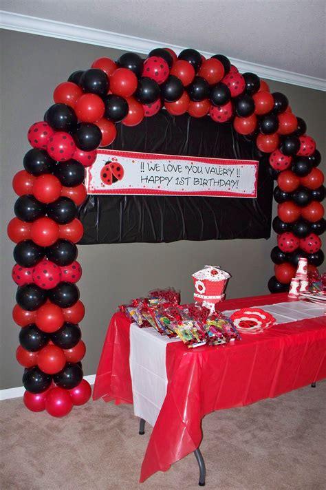 My Ladybug Themed Balloon Arch Balloons Pinterest