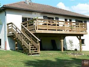 Escalier Terrasse Bois : terrasse bois autoportante et escalier bois boisseuil ~ Nature-et-papiers.com Idées de Décoration