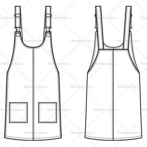 womens jean  dress fashion flat template