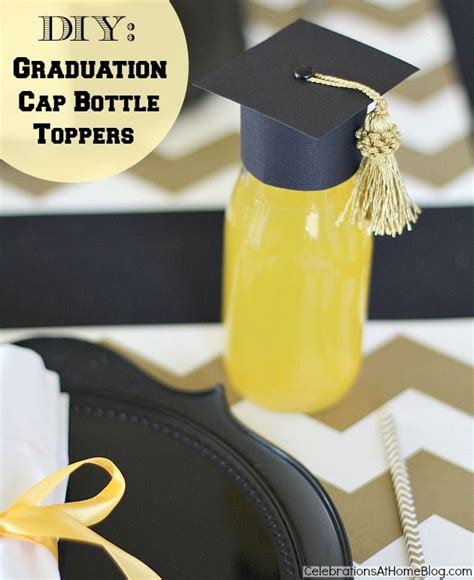 diy graduation cap bottle toppers graduation graduation and craft stores