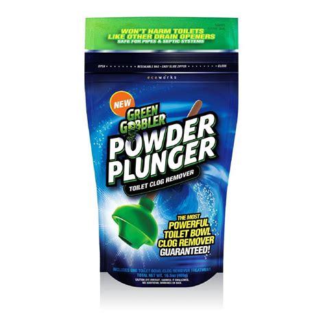 green gobbler  oz powder plunger toilet clog remover