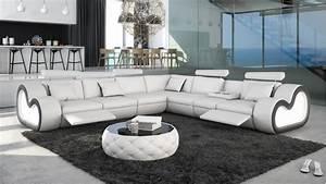 Canapé D Angle Xl : canap d 39 angle relax xl atco avec tablette repose verres ~ Teatrodelosmanantiales.com Idées de Décoration