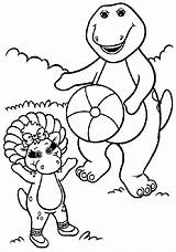 Barney Coloring Pages Friends Dinosaur Fun 2007 sketch template