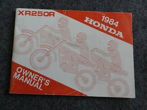 1984 Honda Xr250 Owners Manual Xr 250 R