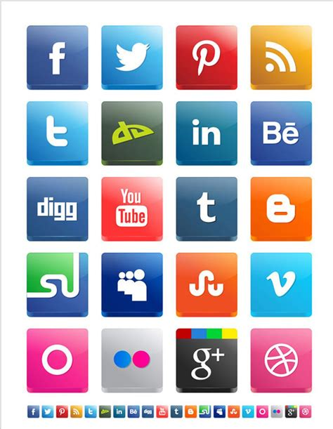 Free Social Media Icons 500 Best Free Social Media Icon Sets Free Icon Sets