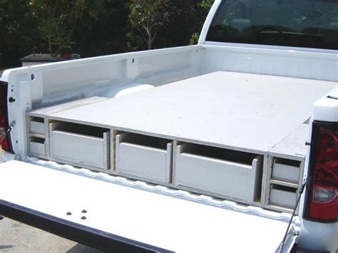 slide out tool box for bed how to install a truck bed storage system how tos diy