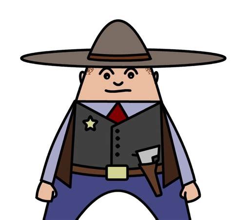 draw cartoons cowboy