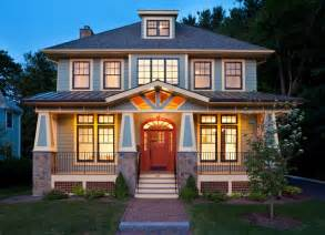 delightful modern american foursquare house plans modern bungalow craftsman exterior boston by