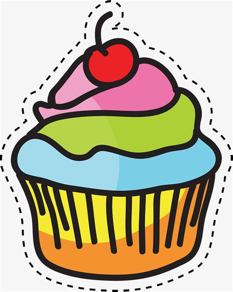 color cupcakes color vector cup cake png