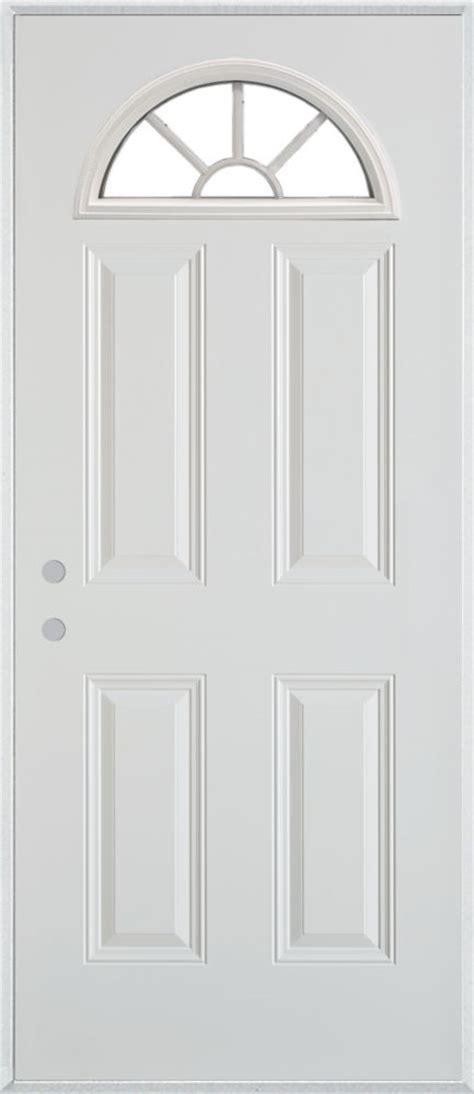 steel entry door home depot stanley doors fan lite 4 panel painted steel entry door