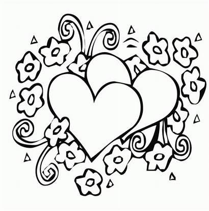 Coloring Hearts Pages Simple Preschoolers