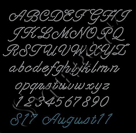 rhinestone fonts