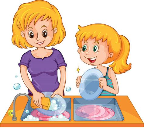Washing Dishes Clipart Clipart Washing Dish Pencil And In Color