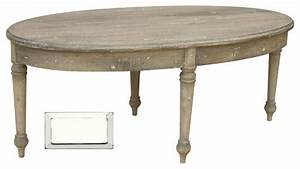 French country oval coffee table white farmhouse for White country style coffee table