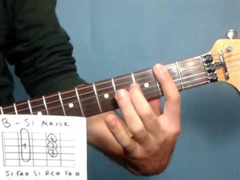 si鑒es de lecciones de guitarra cómo tocar el acorde de si mayor