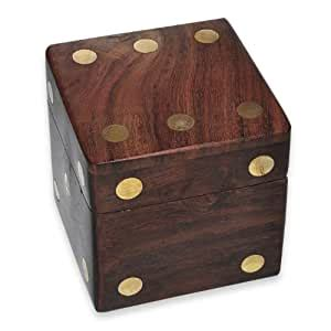 wooden dice box   wooden dice amazoncouk toys games