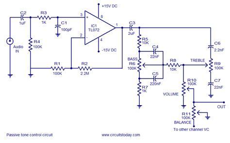 Quality Tone Control Circuit Using Opamp Few Passive