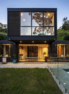 Living In A Box : contemporary post beam residence at the bottom of a slope in auckland ~ Eleganceandgraceweddings.com Haus und Dekorationen