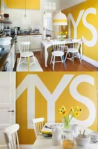 dco murale cuisine les decoratives tendance cuisine de With charming marier couleurs peinture murale 12 sejour peinture des idees pour peindre un mur du salon