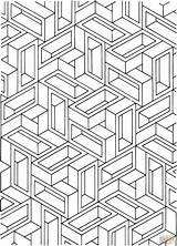 Optical Coloring Illusion Pages Illusions Op Printable Adult Tunnel Colouring Books Geometric Mandala Drawings Clipart Adults Sheets Drawing Library Printables sketch template