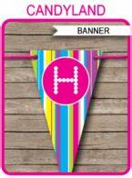 Birthday Candy Bar Wrappers Template Free Candyland Party Printables Invitations Decorations