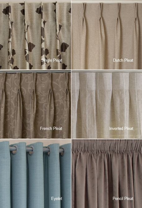 different drapery pleat styles exles of the different heading types available i quite