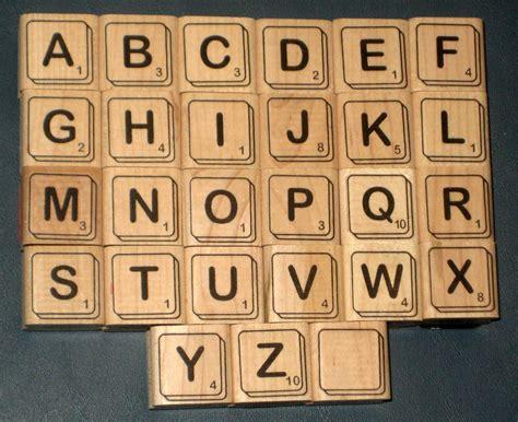 Scrabble Tile Values by Sold Scrabble Tiles Rubber Sters Complete Set Alphabet