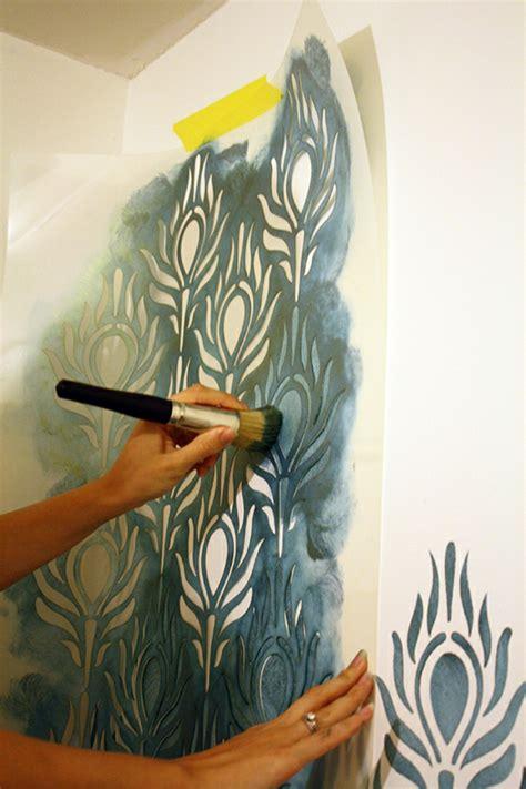 le pochoir mural  idees creatives pour linterieur