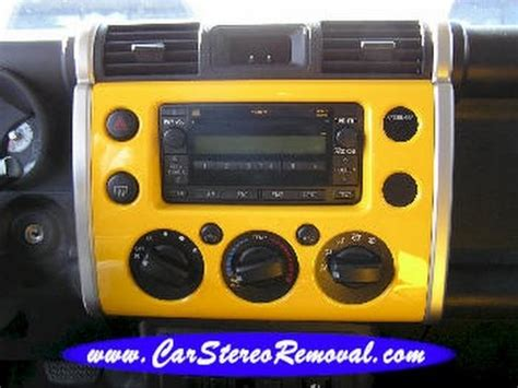 Toyota Fj Replacement by Toyota Fj Cruiser Car Stereo Removal And Replacement
