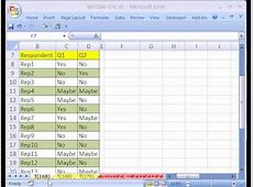 Excel Magic Trick #168 Cross Tabulation For a Survey