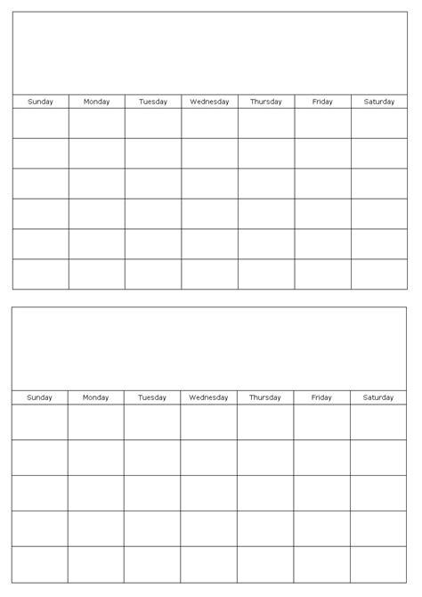 blank calendar template calendar template monday calendar template 2018